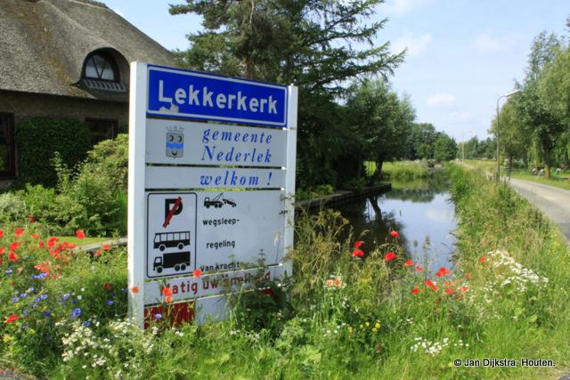 Een fleurig welkom in Lekkerkerk.