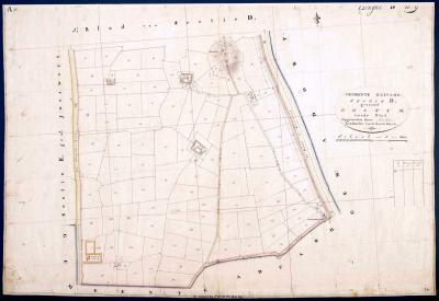 Oostum, minuutplan 1833