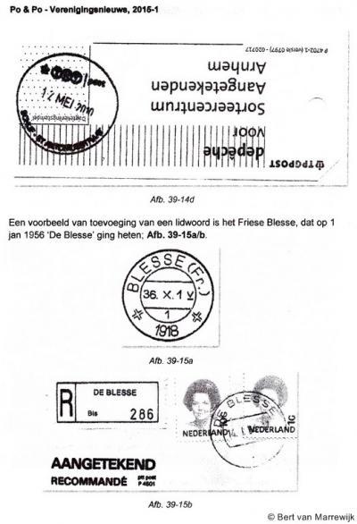 De naam van het dorp De Blesse werd vóór 1956 gespeld als Blesse.