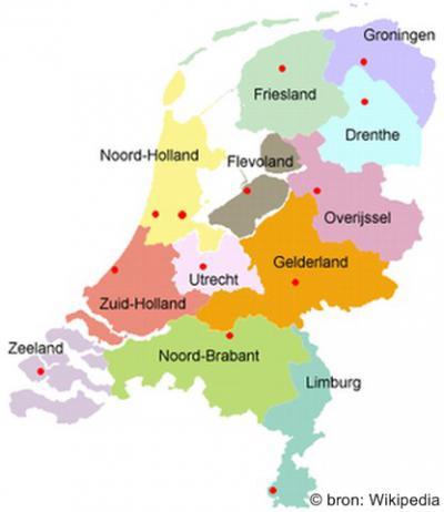 Pas sinds 1986, het jaar van oprichting van de provincie Flevoland, kennen we huidige indeling van ons land in 12 provincies.