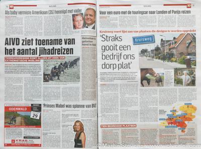 Presentatie Rode Lijst, interview in het Algemeen Dagblad