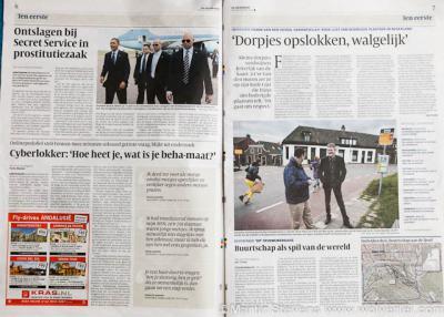 Presentatie Rode Lijst, interview in de Volkskrant