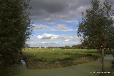 Het is prachtig wandelen en fietsen daar in Loosdorp met het uitzicht over het landschap van de Vijfheerenlanden