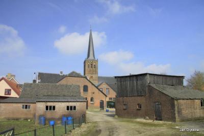 In het centrum van het dorp Maurik