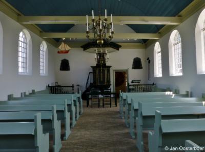 Interieur kerkje Schokland