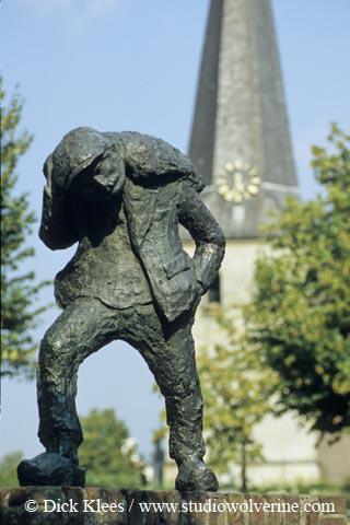 Stramproy, beeld de Sout mael, de zoutsmokkelaar