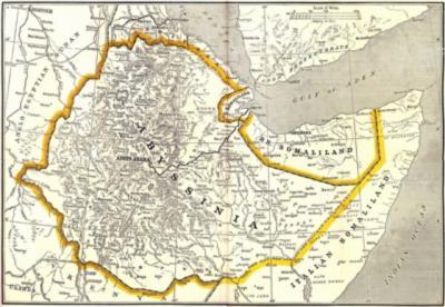 Abessinië is genoemd naar de oude naam van het huidige Ethiopië