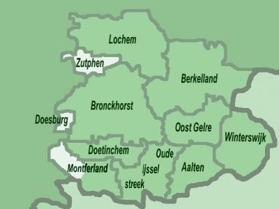 Achterhoek, gemeentekaart