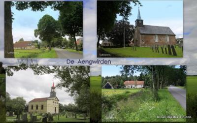 De vier dorpen aan de Aengwirderweg, NO van Heerenveen, worden nog altijd als streekje Aengwirden genoemd