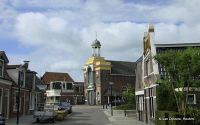 Akkrum, met zicht op de Doopsgezinde kerk