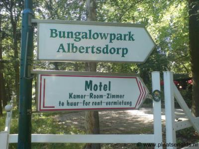 Alberts Dorp, op dit voormalige kamp is nu een gelijknamig bungalowpark gevestigd