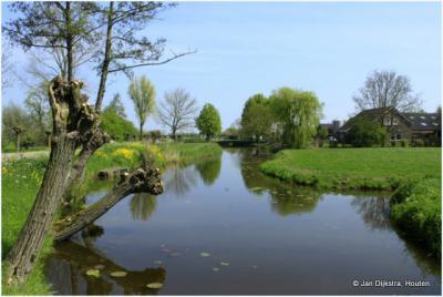 Het landschap van de Alblasserwaard bij de buurtschap Minkeloos