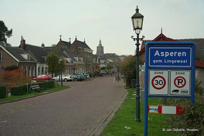 Het dorp Asperen bereikt