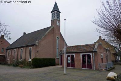 Austerlitz, protestantse kerk De Hoeksteen uit 1984.