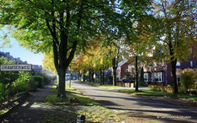 De Gramserweg in Austerlitz in een herfstig zonnetje.
