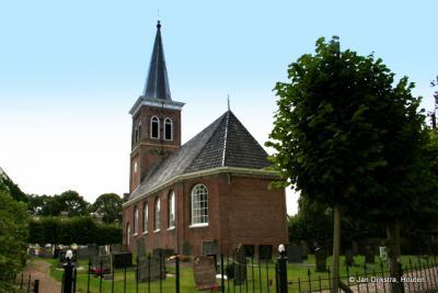 De Hervormde kerk van Baard in het zonnetje