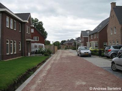 Bentelo, de recentste uitbreiding van het dorp: Plan De Borre, hier gezien vanaf De Bosweide, in ZO richting