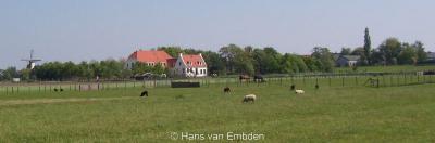 Benthuizen, dorpsgezicht, met o.a. Molen De Haas