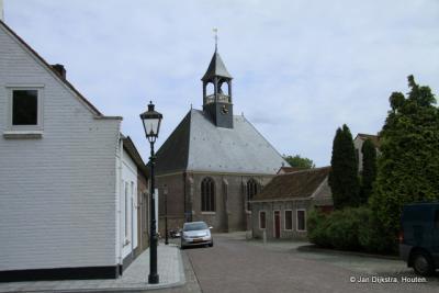 Blik op de Hervormde kerk in Biervliet, gebouwd in 1659-1660