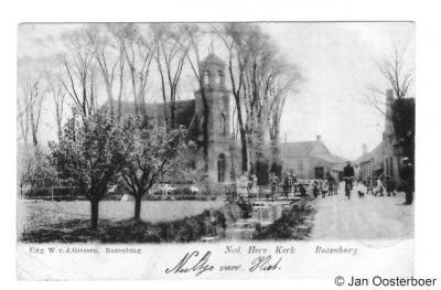 Blankenburg, kerk, ca. 1904 (de kaart suggereert dat deze kerk in Rozenburg stond, maar dat is niet correct).