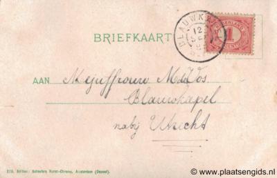 Het nederzettinkje op Fort Blauwkapel had tot 1925 een postkantoortje en lag begin 20e eeuw nog 'nabij Utrecht' in plaats van 'in' Utrecht, want de Utrechtse wijken Overvecht en Voordorp, waar het nu aangesloten aan ligt, waren er toen nog niet.