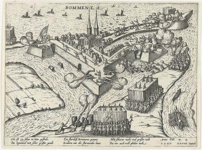 Bommenede, verovering, 1575