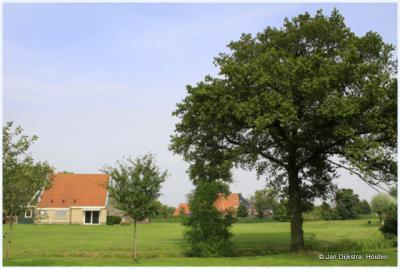 Buurtschap Boornzwaag ligt ten zuiden van de Langwarder Wielen.