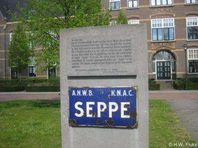 Bosschenhoofd, plaatsnaambord Seppe (monument)