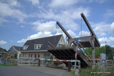 Ophaalbrug over de Oude Waver in Botshol - Waver.