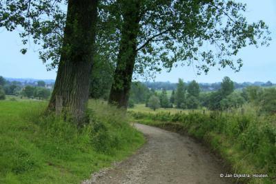 Het landschap dichtbij de buurtschap Broek