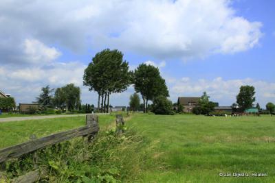 Het deel van buurtschap Broek dat nog onder Ameide valt.