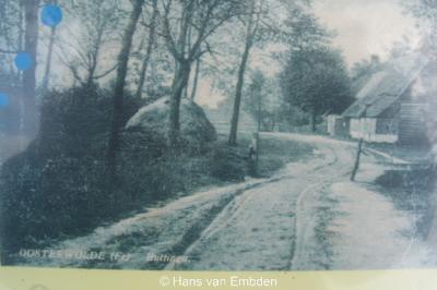 Buttinga in vroeger tijden, toen de weg nog niet verhard was