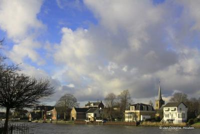Capelle aan den IJssel, gezien vanuit de Kokerstraat in Krimpen aan den IJssel