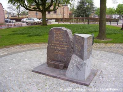 Chaam, oorlogsmonument aan het Raadhuisplein
