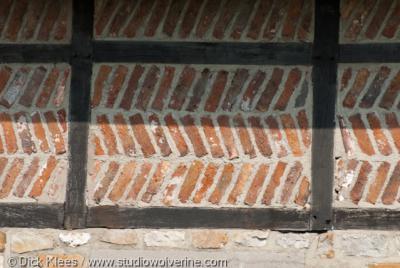 Schey (buurtschap van Noorbeek), speciaal baksteenpatroon in vakwerkhuis