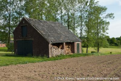 Diependal (buurtschap van Epen), Veldschuur met haardhout.