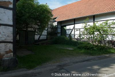 Ingber (buurtschap van Gulpen), Binnenplaats van een vakwerkhoeve.