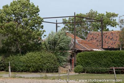 Ellemeet, boerderij met hooimijt