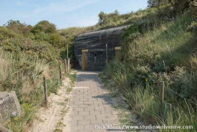 Zoutelande, bunker in de duinen