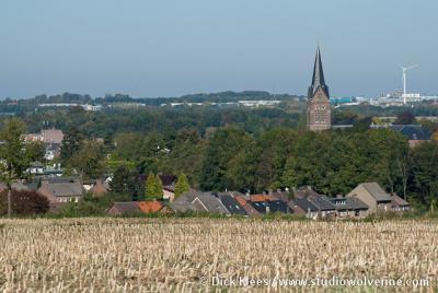 Buurtschap Bocholtzerheide, met op de achtergrond het dorp Bocholtz