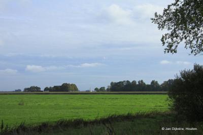 Bij De Hommerts, zo ver het oog kan zien.