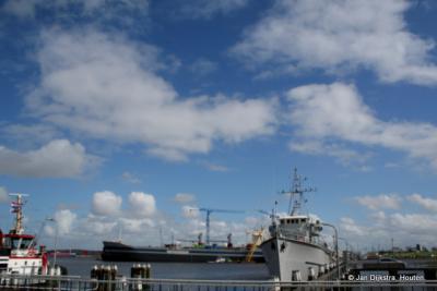 De haven van Delfzijl