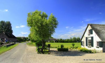 De rustieke buurtschap Den Oord, op het Eiland van Schalkwijk, in de gemeenten Wijk bij Duurstede en Houten