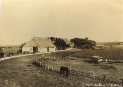 Dijkshoek, buurtschapsgezicht, 1920