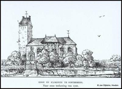 De vroegere kerk van Eastermar (voorheen Oostermeer) is in 1868 afgebroken. De 14e-eeuwse toren is blijven staan. De oude dorpskern waar deze toren staat, is tegenwoordig een buurtschap, onder de naam It Heechsân.