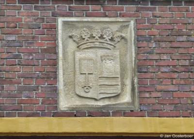 Eenrum, gemeentewapen in het voormalige raadhuis