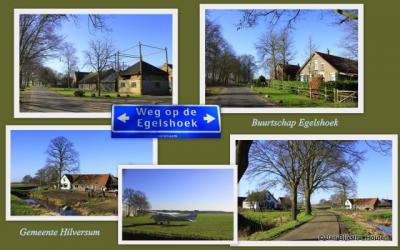 Buurtschap  'Egelshoek', in het uiterste zuiden van de gemeente Hilversum.