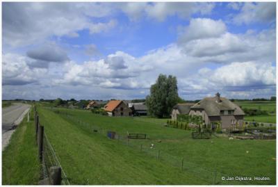 Buurtschap Den Oord, gezien vanaf de Lekdijk