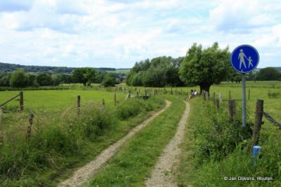 Ook rond buurtschap Elzet kun je mooie wandelingen maken, zoals o.a. de route met de blauwe paaltjes, hier bij het Elzetterbeemdenpad.