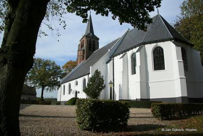 Het mooie witte kerkje van Enspijk.